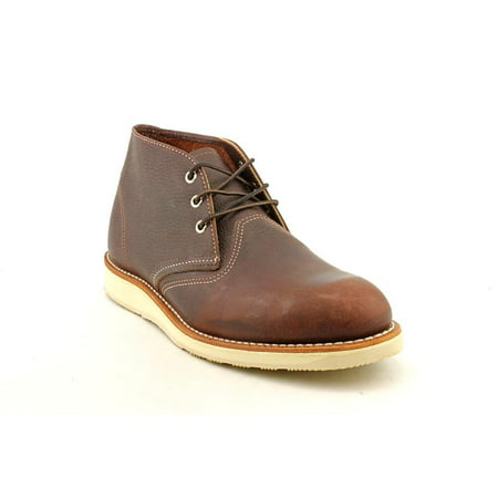Red Wing Shoes Classic Work Chukka Men  Round Toe Leather Brown Chukka