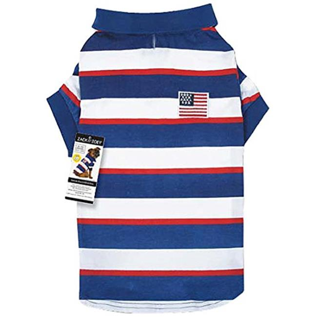 Slumber Pet UM5784 14 SPF40 Patriotic Pooch Polo Shirt