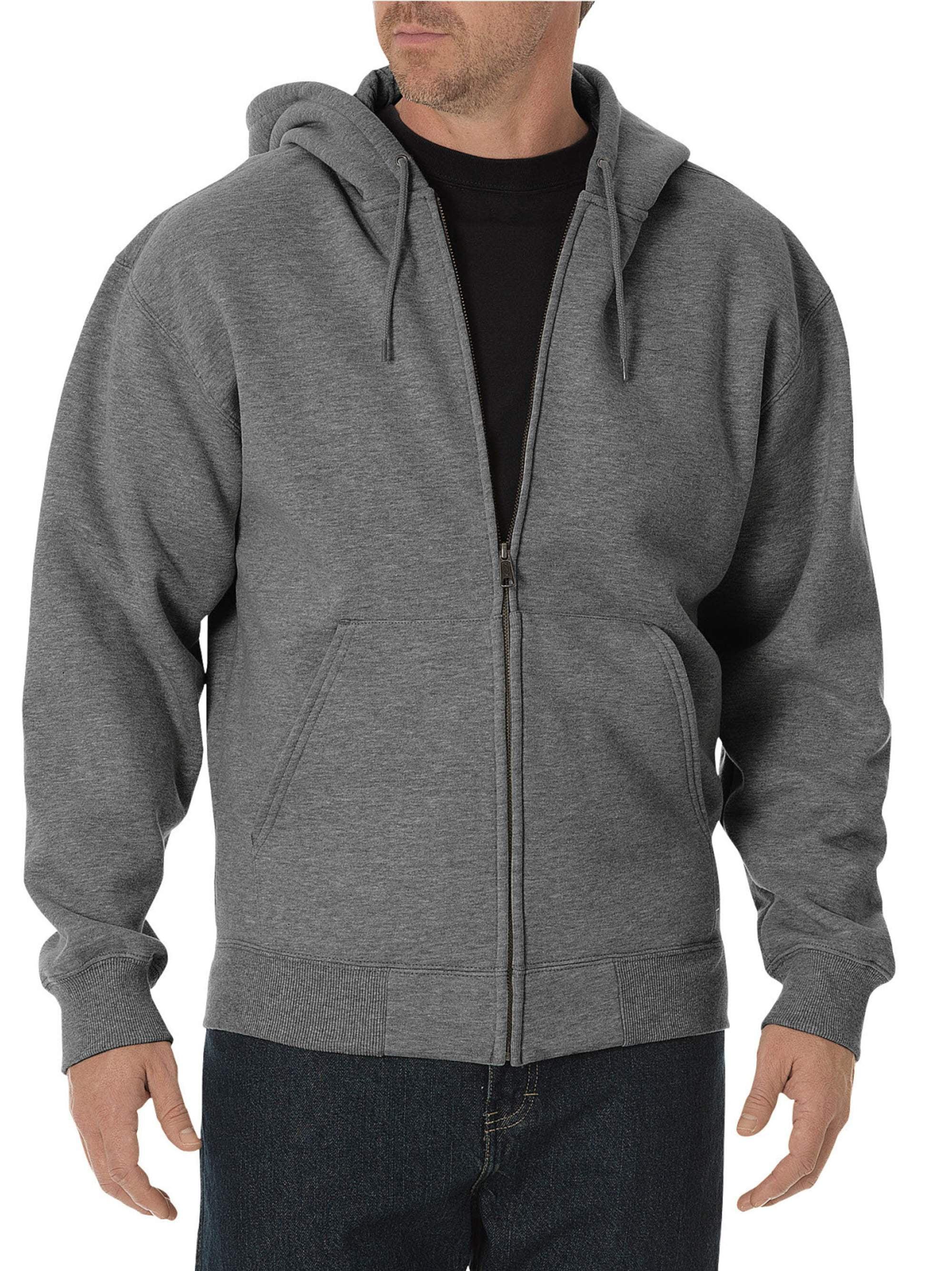 Big and Tall Men's Midweight Fleece Full Zip Hoodie