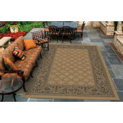 Couristan Recife Garden Lattice Rug, Cocoa/Black