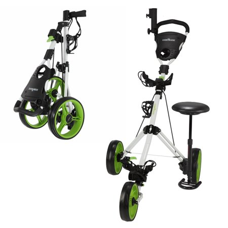 Caddymatic Golf X-TREME 3 Wheel Push/Pull Golf Cart with Seat