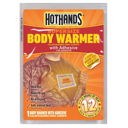 Hothands Body Warmer, Up to 12 hr. Heating Time, Activates By Contact with Air