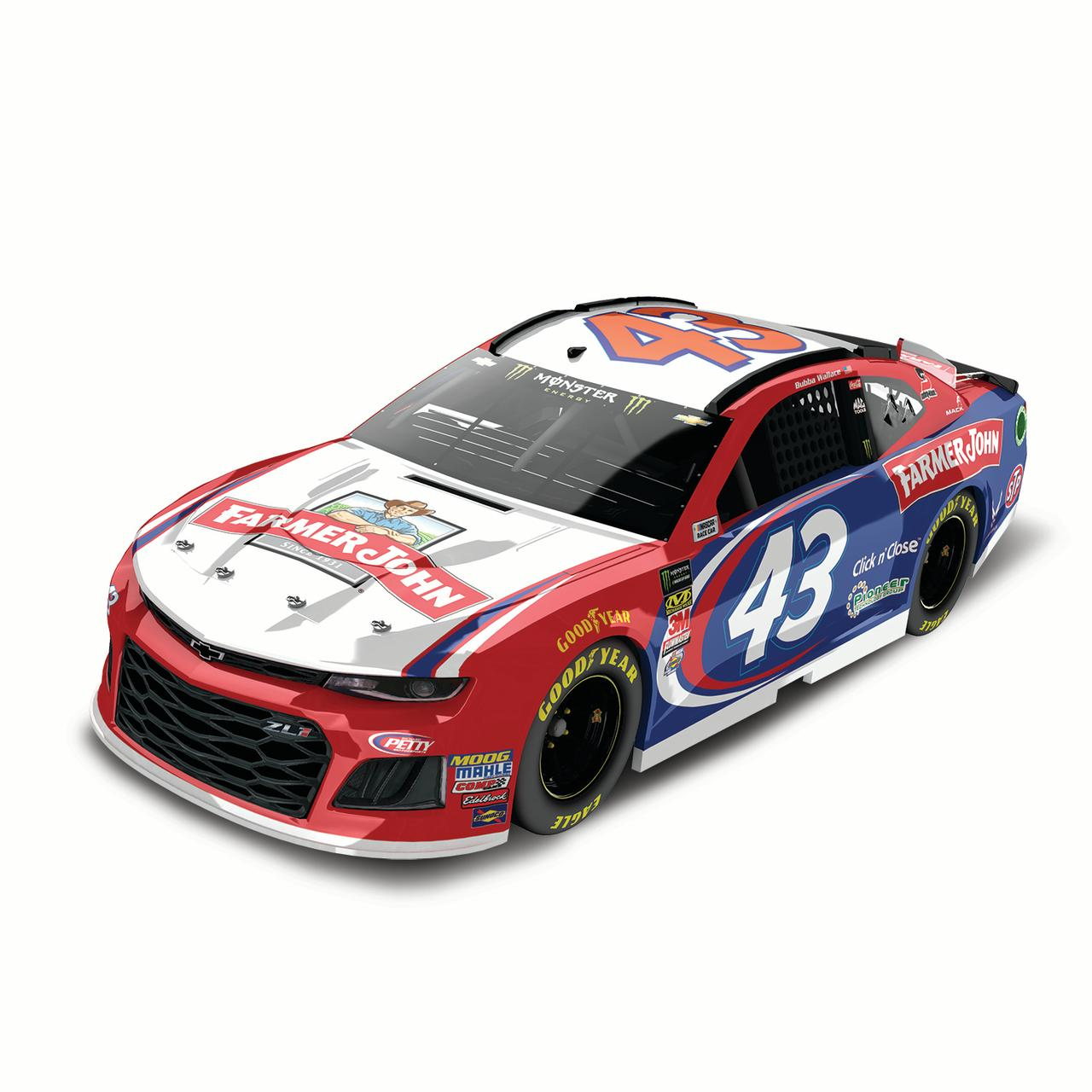 Bubba Wallace Action Racing 2018 #43 Farmer John 1:24 Regular Paint Die-Cast Chevrolet Camaro ZL1 - No Size