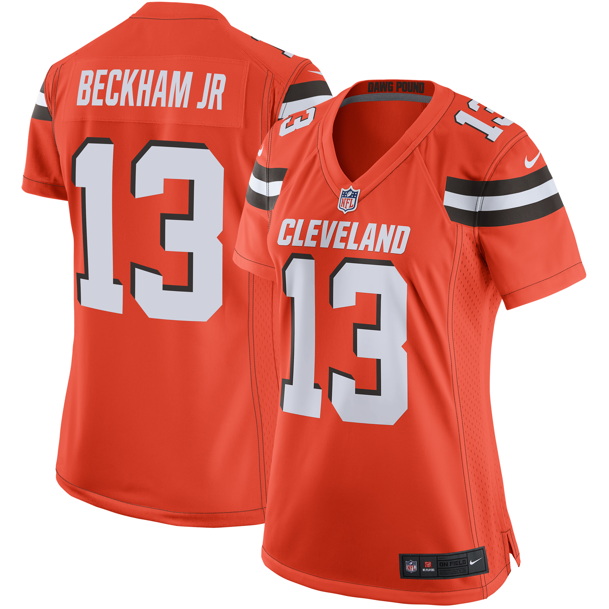 cheaper 957fc 6ae8f Odell Beckham Jr Cleveland Browns Nike Women's Game Jersey - Orange