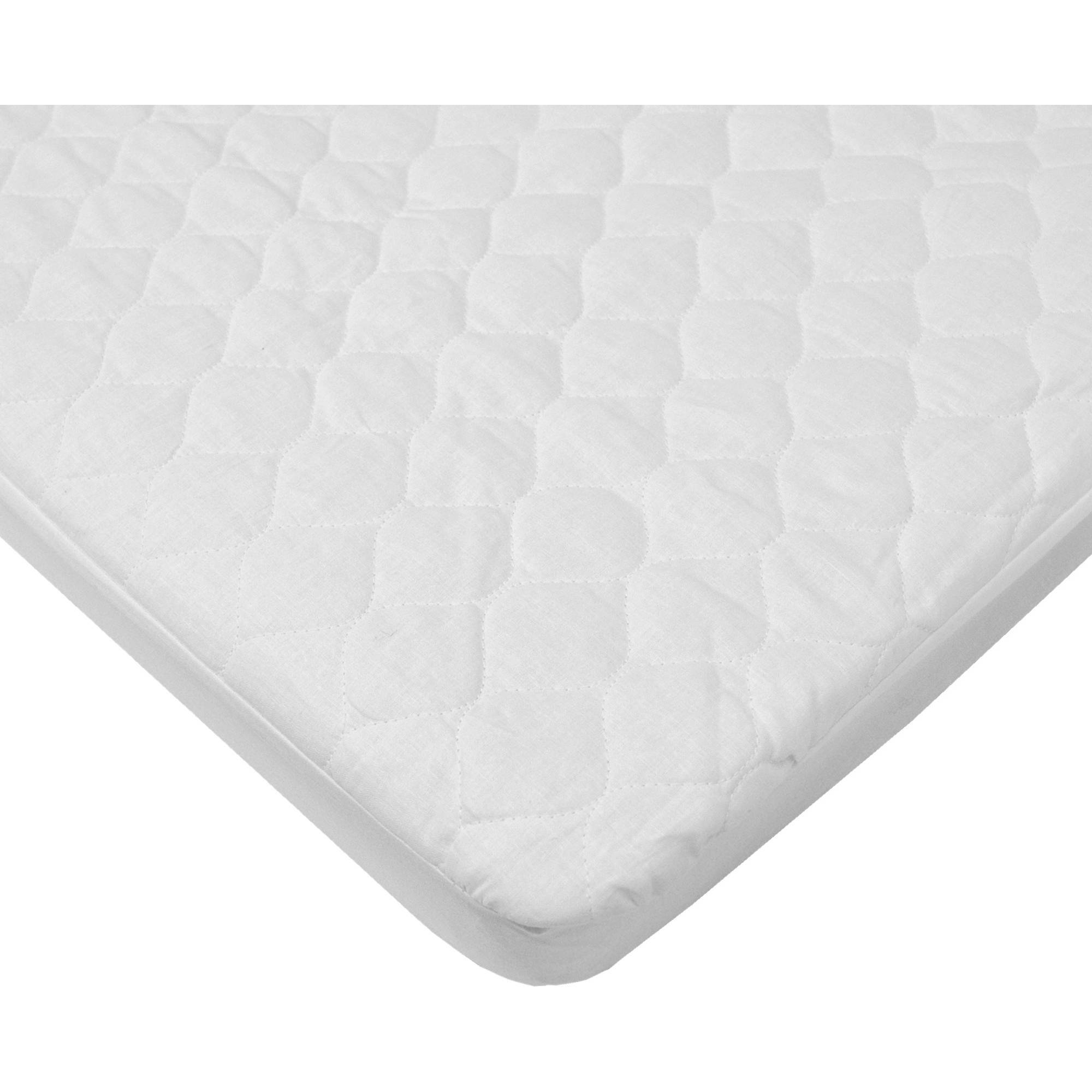 American Baby Company Waterproof Cotton Fitted Quilted Mini Crib Mattress Pad