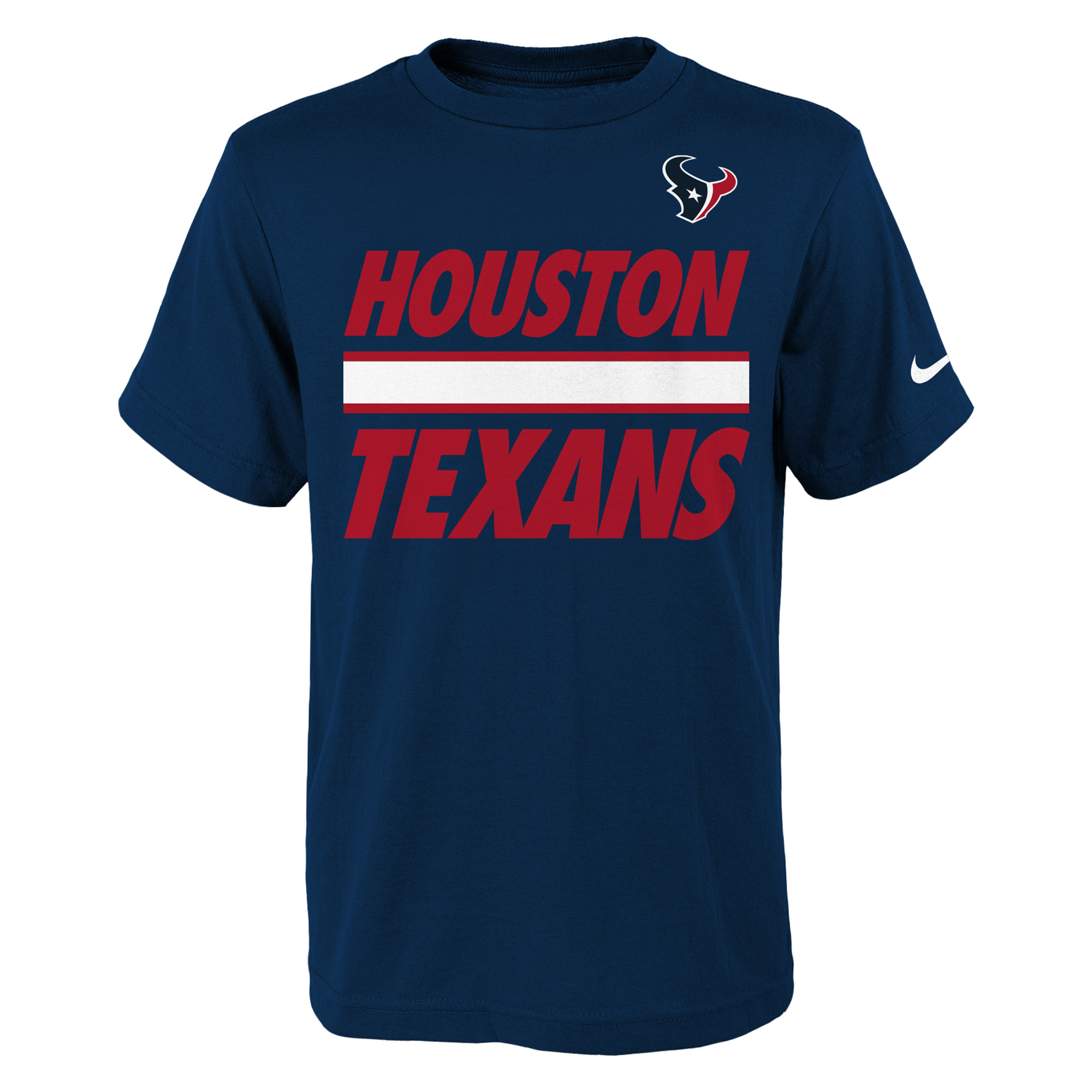 Houston Texans Nike Youth Team Stripe T-Shirt - Navy