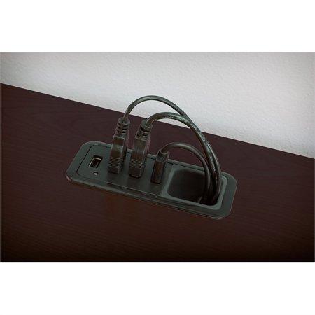 Bush Enterprise 72W Double Pedestal Desk Office Suite in Mocha Cherry - image 6 de 7