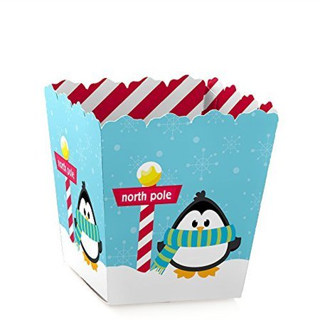 Holly Jolly Penguin - Party Mini Favor Boxes - Holiday or Christmas Party Treat Candy Boxes - Set of - Christmas Favor Boxes