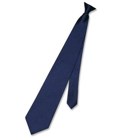Biagio CLIP-ON NeckTie Solid NAVY BLUE Color Men