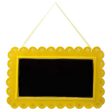 Yellow Metal Chalkboard with Scalloped Edge Party Supplies All Occasion Parties Birthday Wedding Sweet 16