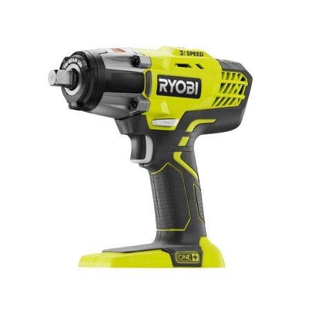 Ryobi 18-Volt ONE+ 1/2-Inch Cordless 3-Speed Impact Wrench (Tool-Only) (New Open