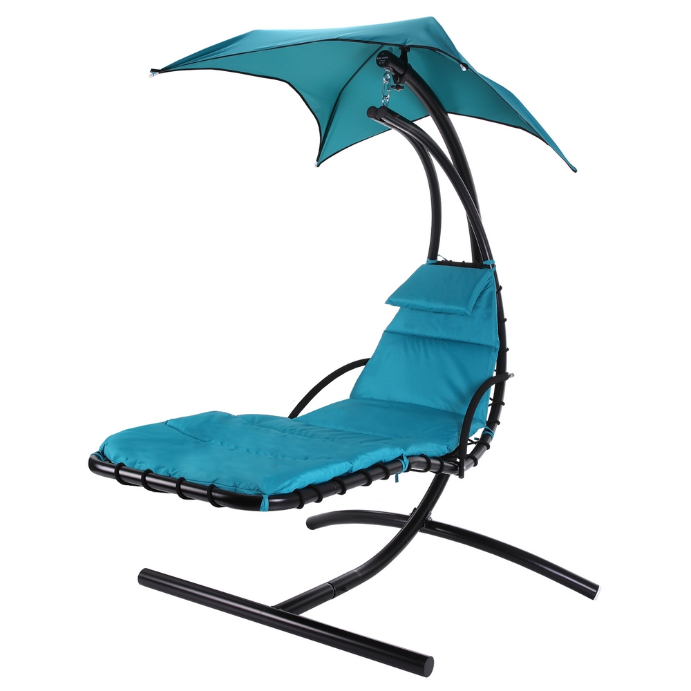 Palm Springs Outdoor Hanging Chair Recliner Swing Air Chaise Longue Teal