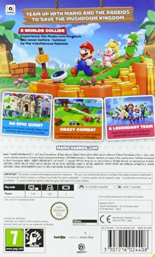 Mario + Rabbids Kingdom Battle (Nintendo Switch, 2017) by