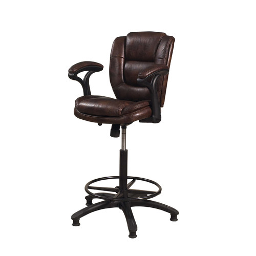 Hillsdale Furniture Dawson Adjustable-Height Swivel Stool, Brown