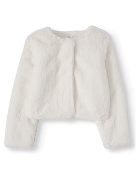 Wonder Nation Girls 4-18 & Plus Faux Fur Bolero Jacket (Little Girls & Big Girls)