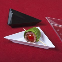 Emi Yoshi Relish Dish - Small Wonders Clear Plastic Mini Triangle Dish 10 Ct., By EMI Yoshi Ship from US