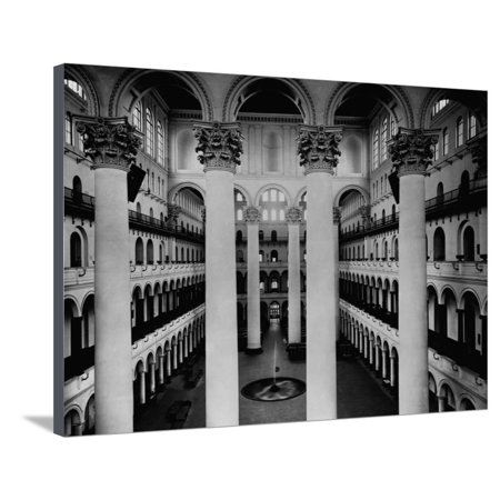 Great Hall of National Building Museum Stretched Canvas Print Wall Art (Great Hall Canvas Art)