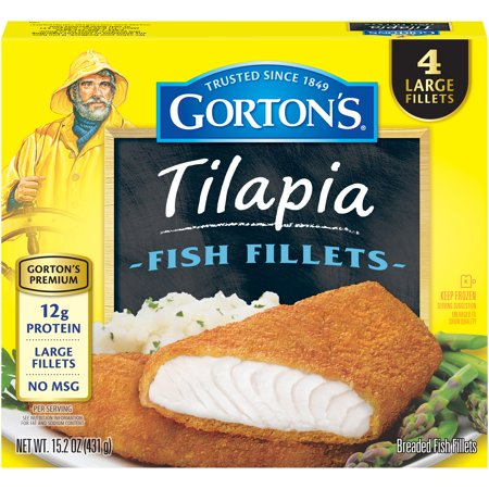 Gorton 39 s tilapia fish fillets 15 2 oz 4 ct for Whiting fish at walmart