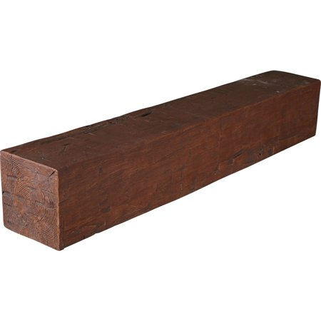 4 H x 8 D x 36 W Hand Hewn Faux Wood Fireplace Mantel Early American