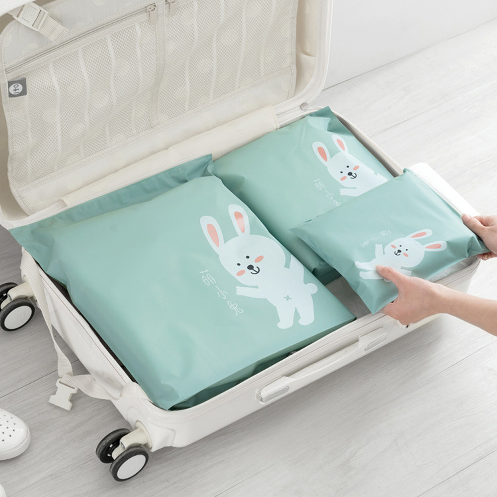 Outtop 3 Pcs Travel Portable Storage Bags Cartoon Pattern Practical Waterproof Storage