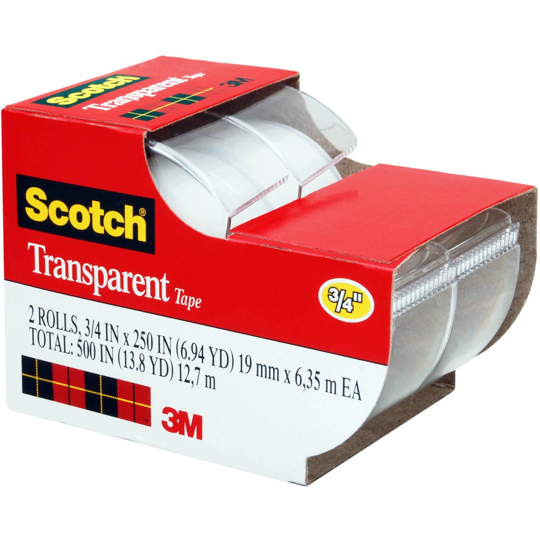 "Scotch Transparent Tape, 2157SS, 3/4"" x 250"""