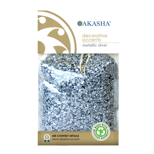 Akasha Decor Sand, Metallic Silver
