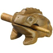 """Deluxe Small 2"""" Wood Frog Guiro Rasp - Musical Instrument Tone Block - only from World Percussion USA"""