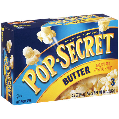 Pop Secret Premium Butter Popcorn, 3.2 oz, 3 count
