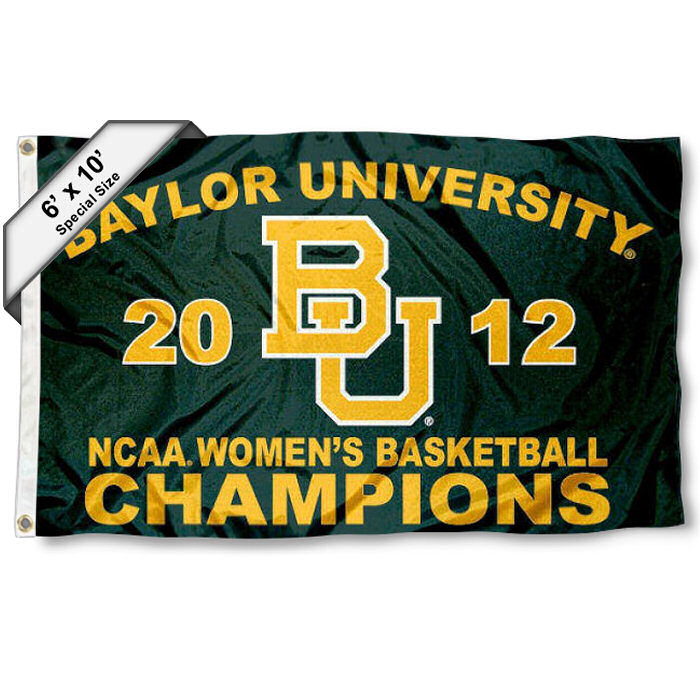 Baylor BU Bears 2012 Womens National Champs Large 6' x 10' Flag