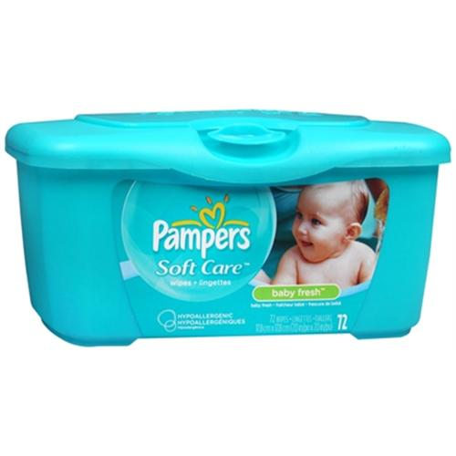 Pampers Baby Fresh Wipes Tub 72 Each (Pack of 4)