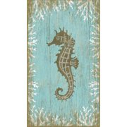 Red Horse Arts Seahorse Right by Suzanne Nicoll Graphic Art Plaque