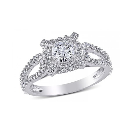 Carlita Sterling Silver Engagement Ring AAA Quality CZ - Ginger Lyne (Best Quality Cz Engagement Rings)