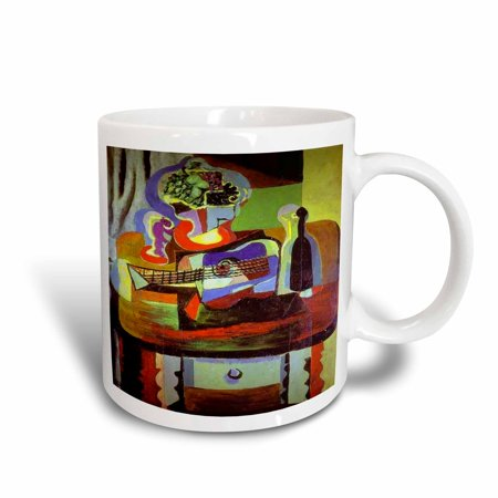 Super Bowl Mugs (3dRose Picasso Painting Bowl Of Fruit n Guitar, Ceramic Mug,)