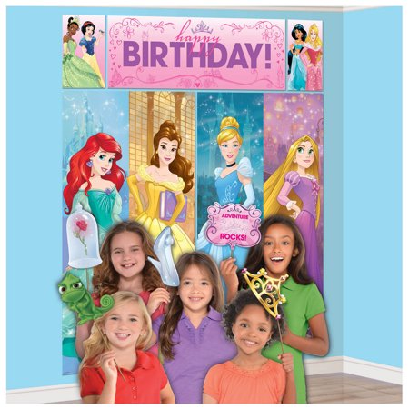 Disney Princess Scene Setter with Photo Booth Props (Jungle Scene Setter)