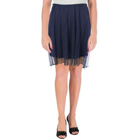 Speechless Womens Juniors Mesh Hi-Low A-Line Skirt Navy 7 Speechless Halter Skirt