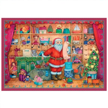 Santa's Toy Show German Christmas Advent Calendar Countdown Made in Germany ()