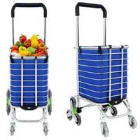 8 Wheel Aluminum Portable Folding Stair Shopping Cart HFON
