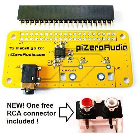 Audio DAC HAT Sound Card (AUDIO+) for Raspberry Pi Zero/PI3/PI3B/PI3B+/PI2/Better quality than (Raspberry Pi 3 Cirrus Logic Audio Card)