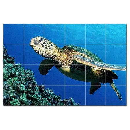 Turtle Ceramic Tile Mural Kitchen Backsplash Bathroom Shower 402939 M6