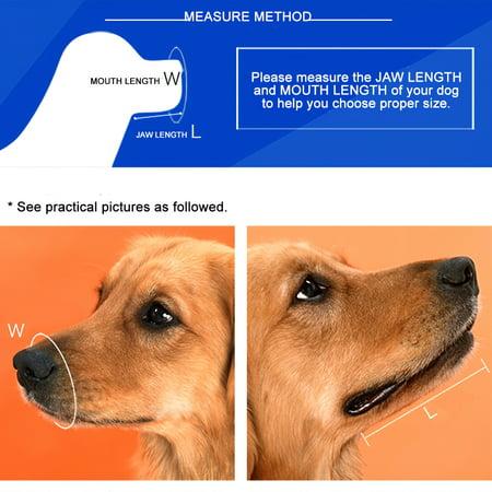 Dog Muzzle Soft Silicone Adjustable Basket Biting Chewing Barking