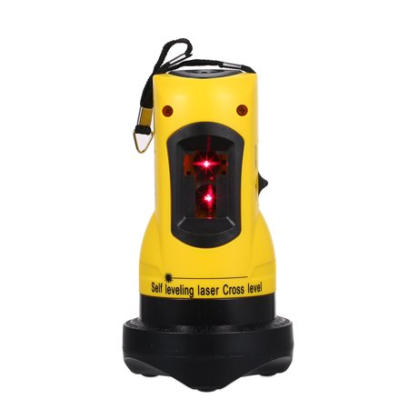 Household 2 Lines Cross Laser Level Device 360 Rotary Cross Line Leveling Can Be Used with Overrange Alarm Outdoor Receiver Vertical &