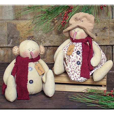 Barney and Betty Snowmen  Set (Barney And Betty)