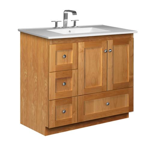 Strasser Woodenworks Simplicity 37'' Single Bathroom Vanity Set