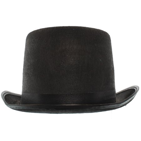 BLACK TOP HAT - Costume Accessory - VICTORIAN GENTLEMAN (Cheap Black Top Hats)