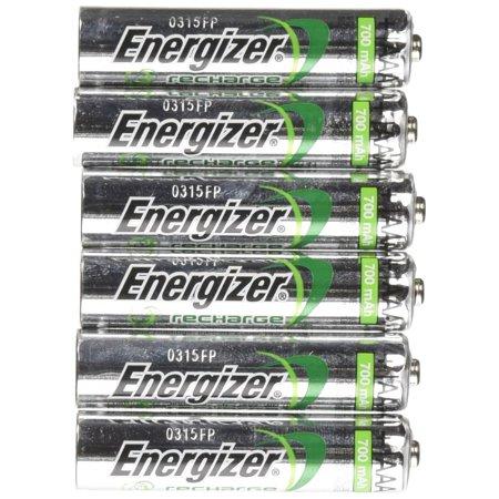 Energizer AAA Rechargeable NiMH Battery min. 700 mAh 1.2V x six 6 Batteries