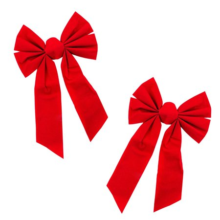 Red Velvet 6 Loop Bow for Wreath Decorations (8