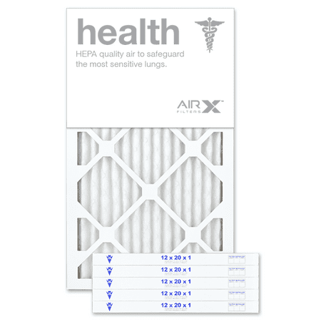 AIRx Filters Health 12x20x1 Air Filter MERV 13 AC Furnace Pleated Air Filter Replacement Comparable with Filtrete Healthy Living MPR 1500 1550 1900 2200 2400