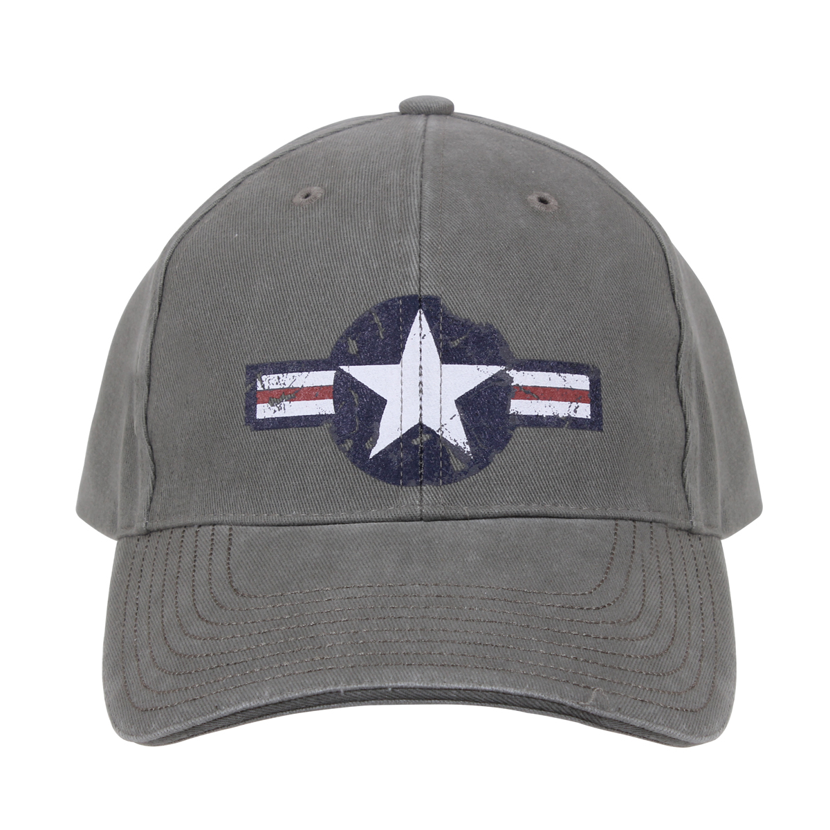 Deluxe Vintage Style Air Corp Logo Low Profile Cap, Hat, Gray