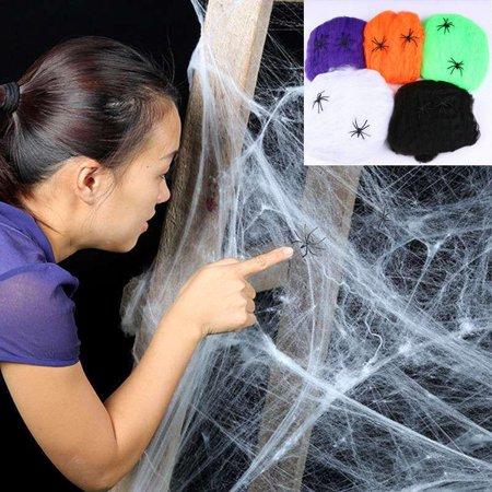 Orange County Halloween Bars (Halloween Scary Party Scene Prop Cobweb Spider Web Horror Halloween Decoration for Bar Haunted)