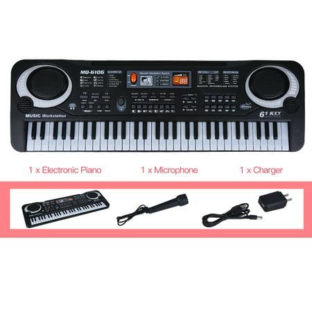 Filfeel Electric Digital Piano, 61-Key Electric Digital Key Board Piano Musical Instruments Kids Toy with Microphone,Musical Instruments Toy